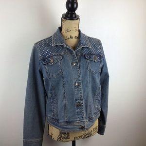 H & J Embellished Denim Jacket